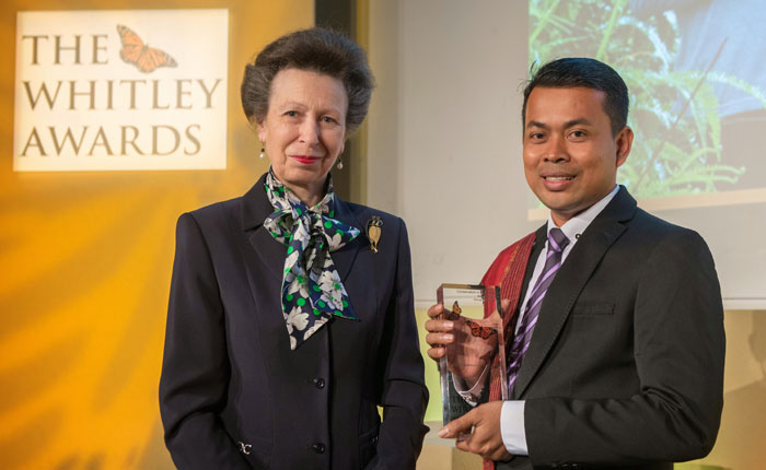 The Princess Royal and Whitley Award winner Panut Hadisiwoyo