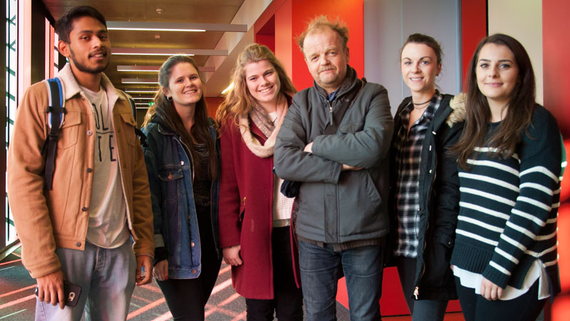 Actor Toby Jones meets Oxford Brookes Drama students