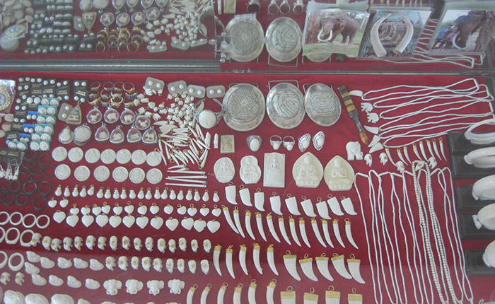 Ivory items on sale - Photo credit: Prof Vincent Nijman