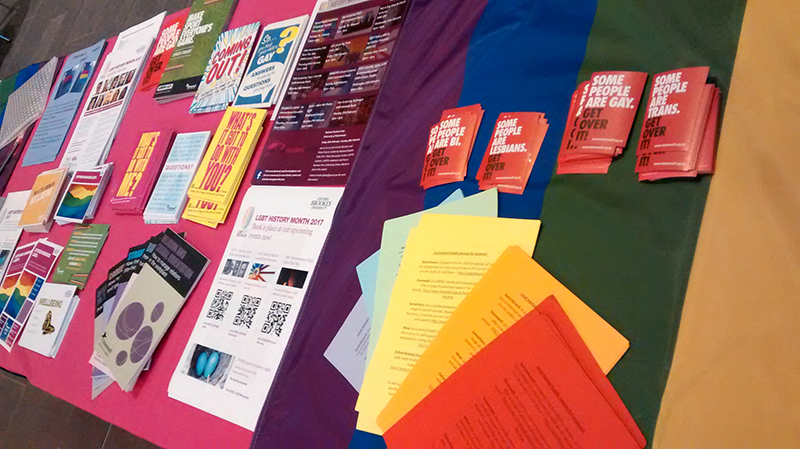 LGBT+ History Month Campus stall