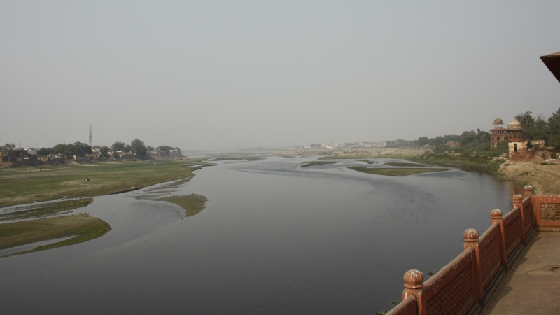 The Agra riverfront