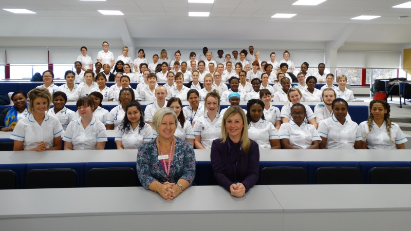Brookes nursing students at Swindon Campus