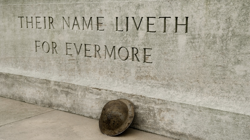 WW1 stone of remembrance