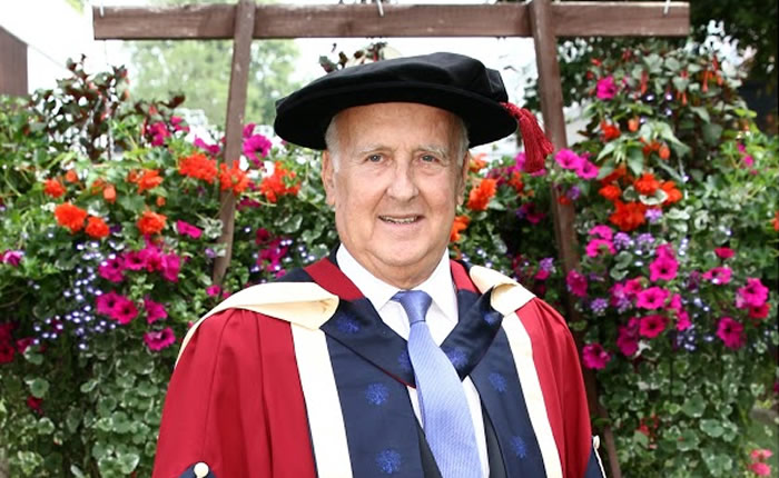 Professor David Levin, leading hospitality entrepreneur and supporter of Oxford Brookes